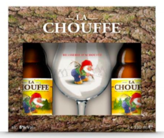Chouffe La Chouffe Gift Pack (Two Beers, One Glass)