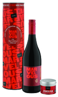 Marvelous wines Marvelous Red & NOMU Spanish Rub in Gift Tube